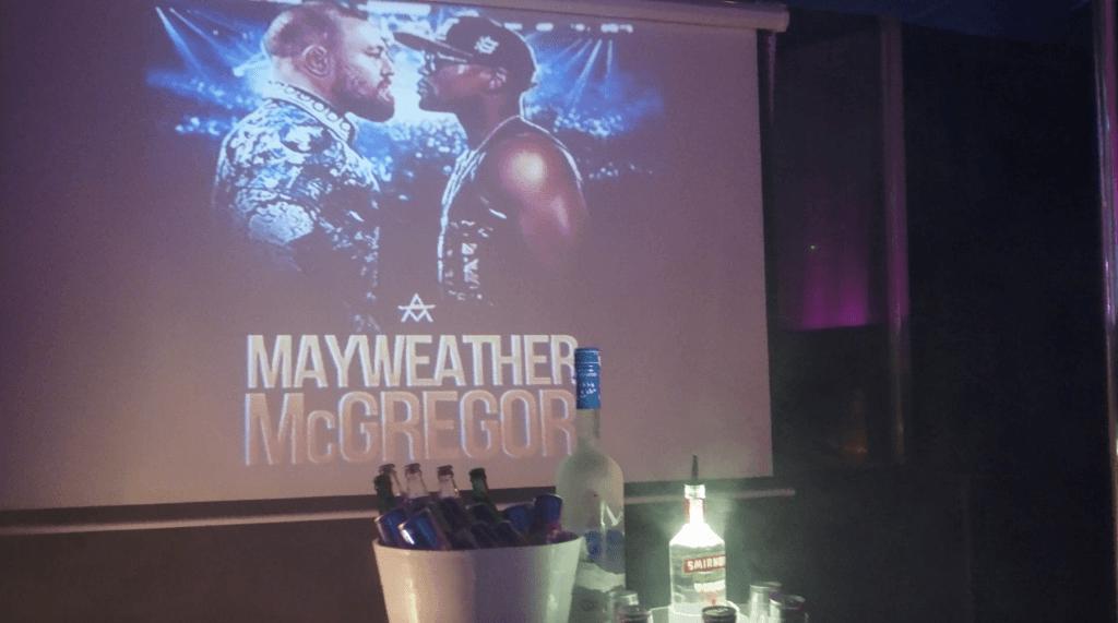 Mayweather vs Mcgregor in Magaluf